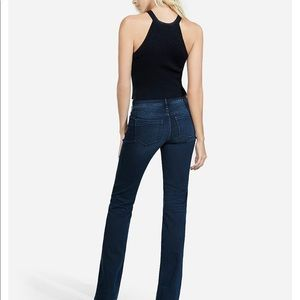 Express barely boot mid rise jean